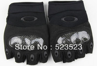 Free Ship Outdoor Sport Male Fingerless Tactical Motorbike Hunting Climbing Cycle Gloves Men Black Carbon Fiber M L XL Wholesale