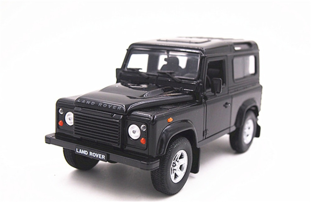 1:24 Welly Defender Diecast Model Toy Car Vehicle BlackNew in Box(China (Mainland))