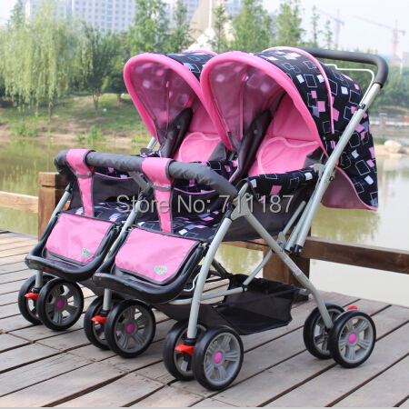 Twins Stroller, Baby Car Baby Stroller, Super Suspension Foldable 2 Seat Stroller<br><br>Aliexpress