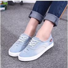 2016 New Arrival Women's Canvas Shoes Female Water Wash Denim Casual Shoes SIZE 35-40 2Colors