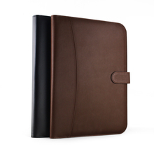 A4 business office PU leather manager file folder a4 document organizer portfolio with calculator 700A(China (Mainland))