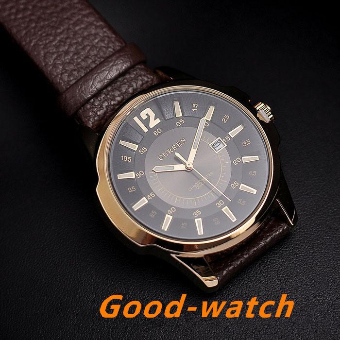 Luxury Brand CURREN 8123 Men military watch Fashion Men wristwatches Quartz men sports watches Casual leather