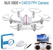 MJX X800 2.4G 6-axle Gyro RC Drone Hexacopter UAV 3D Roll Helicopter + MJX C4010 720P 1.0MP HD FPV Camera F15309-B(China (Mainland))