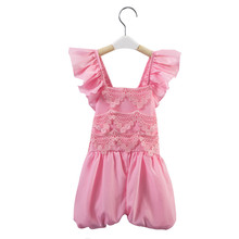 newborn baby girl rompers baby clothes hot summer baby girl pink jumpsuit children bow  lace suit