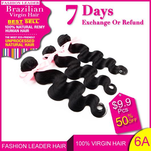 Brazilian Virgin Hair Body Wave Human Hair Weaves Brazilian Body Wave 3Pcs Remy Natural Black Virgin Brazilian Hair Weave Bundle(China (Mainland))