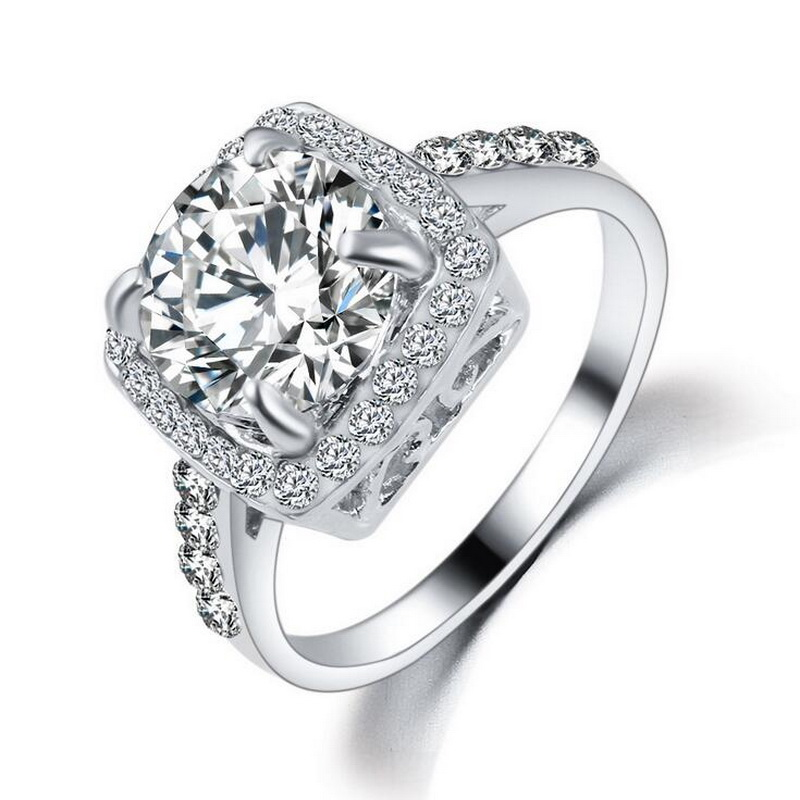 rose gold platinum plated crystal wedding rings for women stainless steel ring promotion. Black Bedroom Furniture Sets. Home Design Ideas