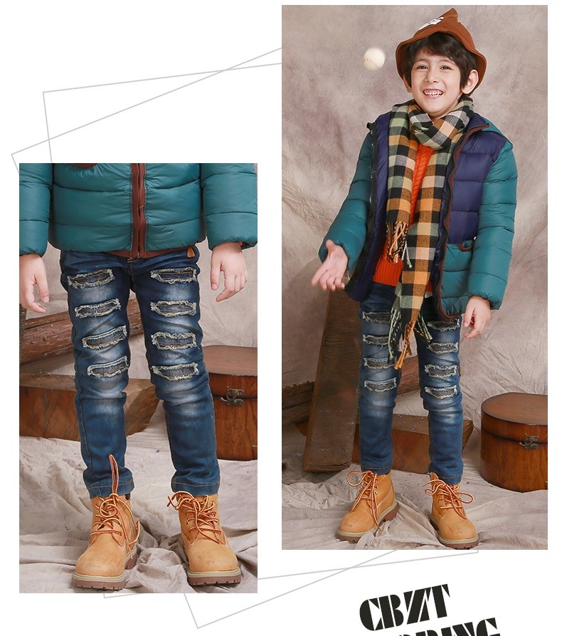 Fashion Brand winter thick warm flannel baby boys jeans kids Clothing,Thick Warm cashmere Kids Pants,Two Layers boy trousers