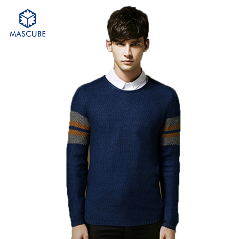 Men Sweater Korean Version Thick Slim Long Sleeve Pullovers New Winter And Autumn Slim Fit Clothing Men Pullover Size M-2XL(China (Mainland))