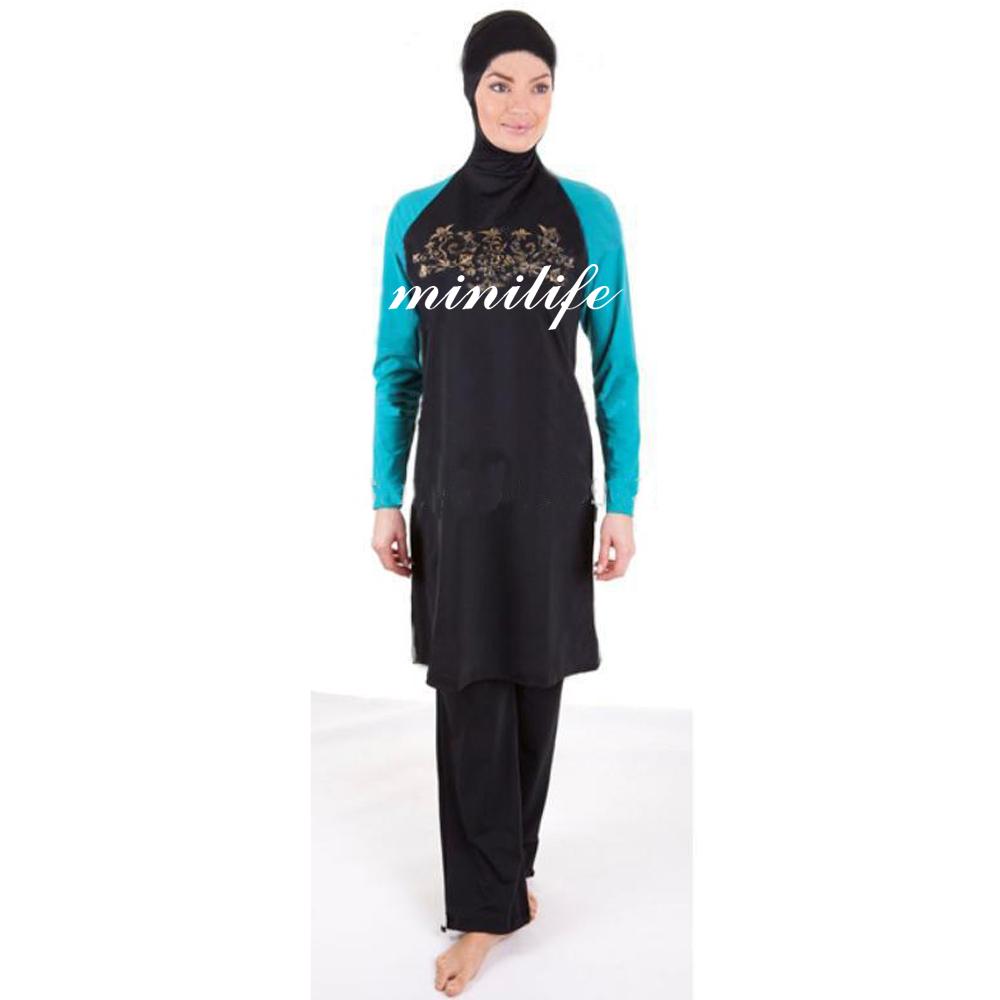 Mini Life New Fashion New Women 39 S Muslim Swimwear Islamic Swimsuit Muslim Swimsuit Arabic