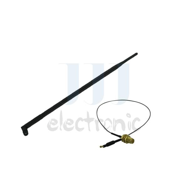 1 9dBi RP-SMA 2.4g 3g 4g 5.0g 5.8g WiFi Antenna + 1 U.fl for Mod Kit Linksys E3000 EA3500 E4200(China (Mainland))