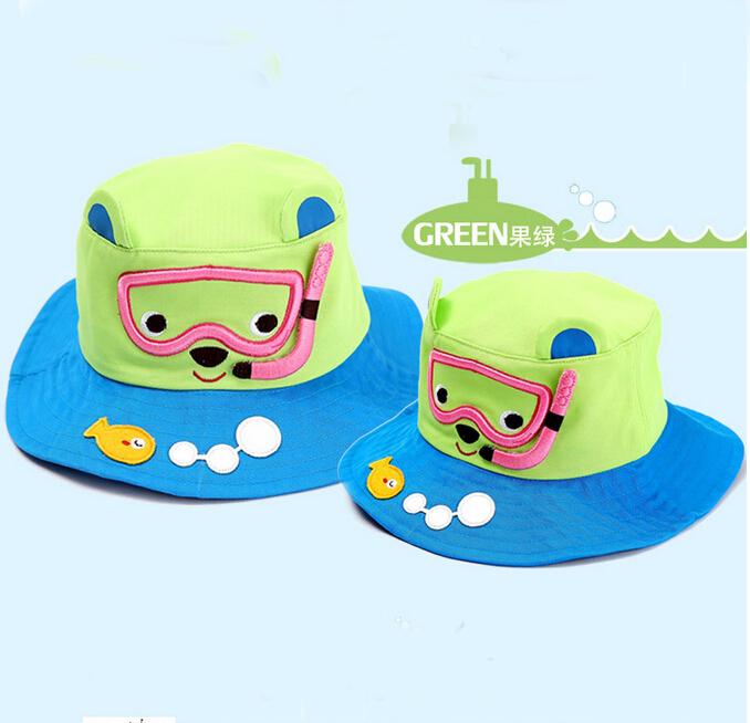 Baby Summer Outdoor Bucket hats children cartoon sunhats beach caps beach hats for girl and boy kids cotton hats caps(China (Mainland))