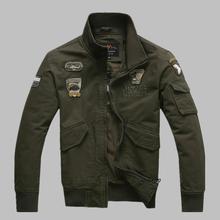 High Quality Mens Military Jacket Male Army Jacket Autumn 100% Cotton Military Style Clothing Aeronautica Militare Jackets Men(China (Mainland))