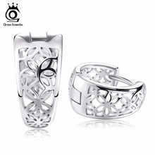 ORSA 2015 New Hollow Out Design Fashion Earring with Platinum Plated Jewelry Earring for Women OE28(China (Mainland))