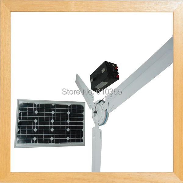 Have stocks ! 56inch Dc solar ceiling fan with Metal blades(China (Mainland))
