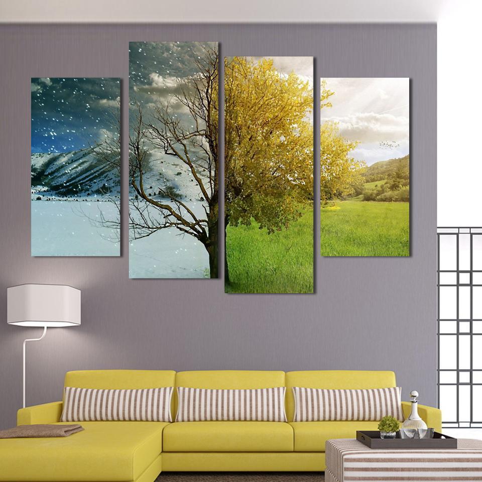 Achetez en gros toile art avec jaune couleur abstraite en ligne à ...