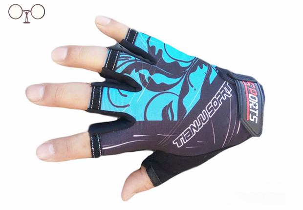 Fashion Exercise Men Women Sports gloves Half finger mittens fingerless glove gym luva Workout guantes