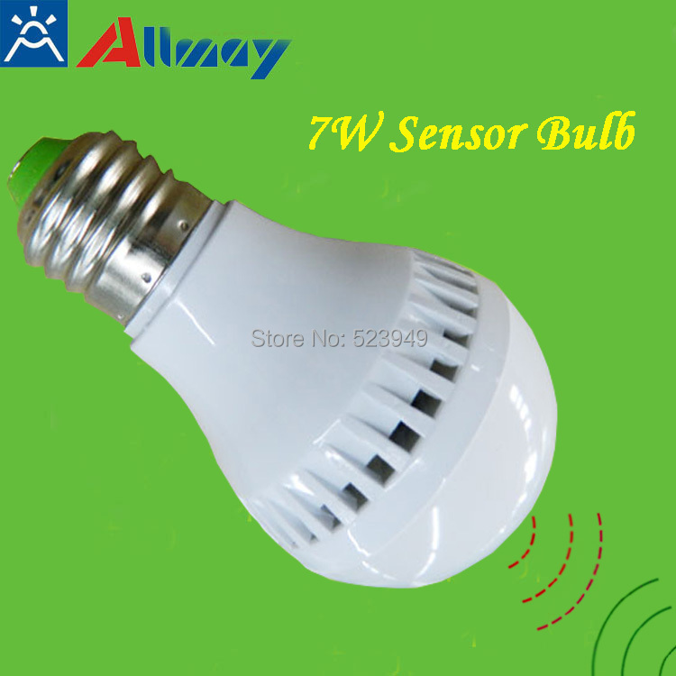 buy microwave sensor led bulb 7w e27 free. Black Bedroom Furniture Sets. Home Design Ideas