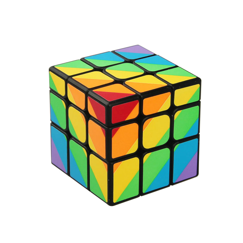 YongJun YJ MoYu Unequal 56mm 3x3x3 Cast Coated Magic Cube Puzzle Cubes Professional Cubo Magico Toys Gift(China (Mainland))