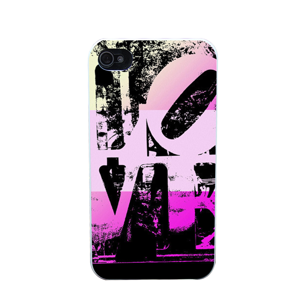 1317O Philadelphia Love Pink Style Phone Case Shell Hard White Case Cover for iPhone 4 5 6 s plus(China (Mainland))