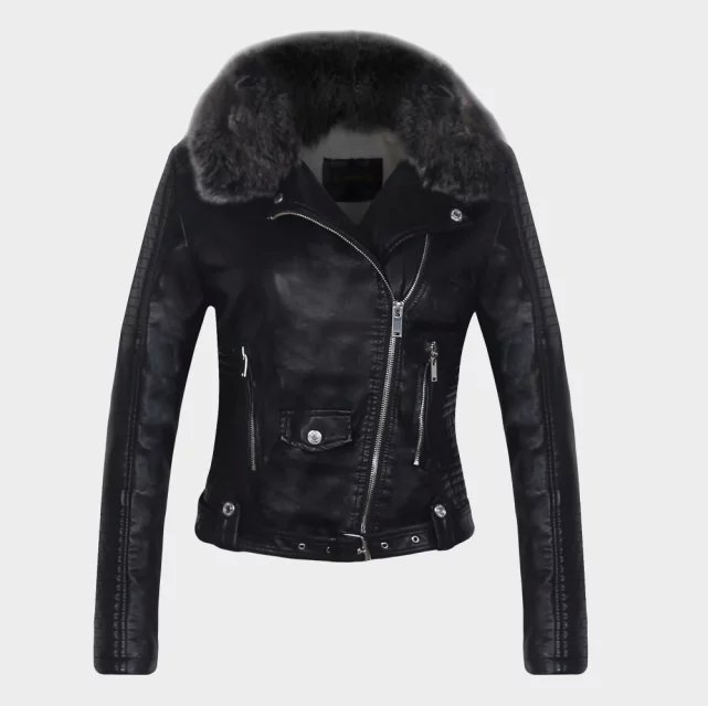 Leather Jackets For Women With Fur - Coat Nj