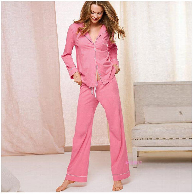 Recommend. 2015 beautiful lady collection. 100% cotton women pajama set. full sleeve leisure wear. super comfortable home wear(China (Mainland))