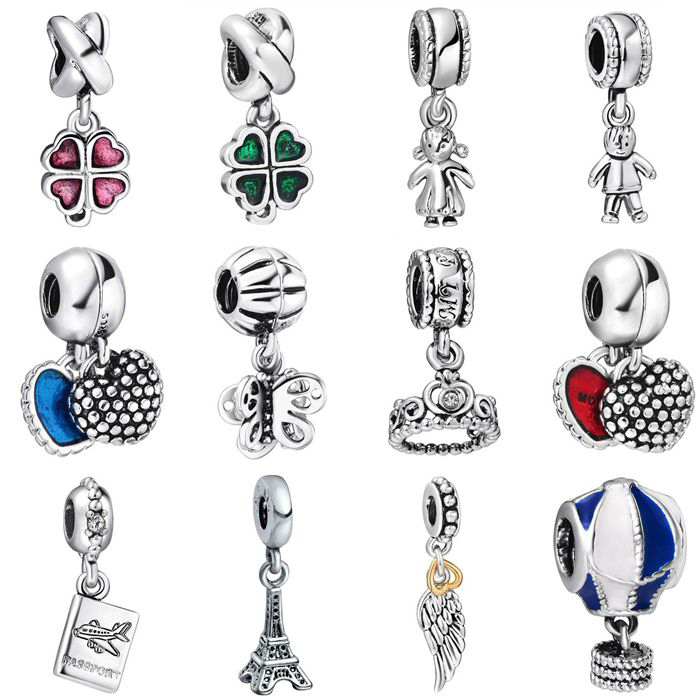 New! 925 Sterling Silver Charm Fashion Pendant European Charms Silver Beads For Snake Chain Bracelet DIY Fashion Jewelry(China (Mainland))