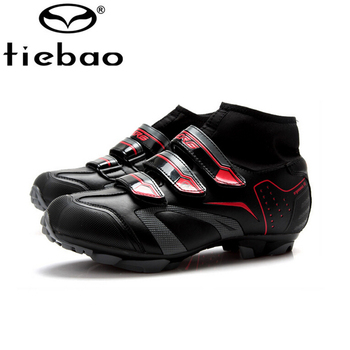 2016 Оригинал TIEBAO Велоспорт Обувь зима мужские сапоги Собственн-Замка СПД patillas MTB Обувь Мужчины MTB Велосипед Обувь кроссовки Размер