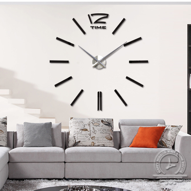 2015 special large diy quartz 3d wall clock Living Room big acrylic watch mirror stickers modern design home decor - DIY Home Decorations-Factory store