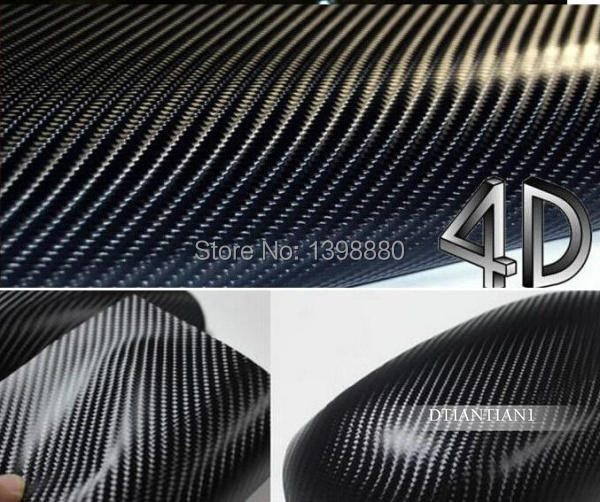 200mmX1520mm Waterproof DIY Car Sticker Car Styling 4D Thicken 3M Car Carbon Fiber Vinyl Wrapping Film