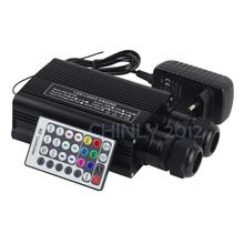 RGBW 32W LED Fiber Optic Engine Driver double head+28key RF Remote controller for all kinds fiber optics(China (Mainland))
