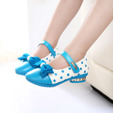 2016spring autumn new style children's fashion shoes Single shoes Leisure sports shoes girls bowknot Princess shoes sandals A097