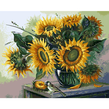 Buy Wall Art DIY Painting Numbers Hand Painted Oil Canvas Home Decor Living Room Sunflower Modern Abstract Oil Painting for $8.42 in AliExpress store