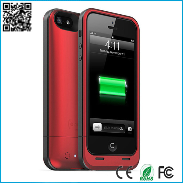Top Quality 2100mah Emergency Backup Battery For Iphone5/5S Iphone 5 5s Extra Power Case Rechargeable White Black Red Color(China (Mainland))