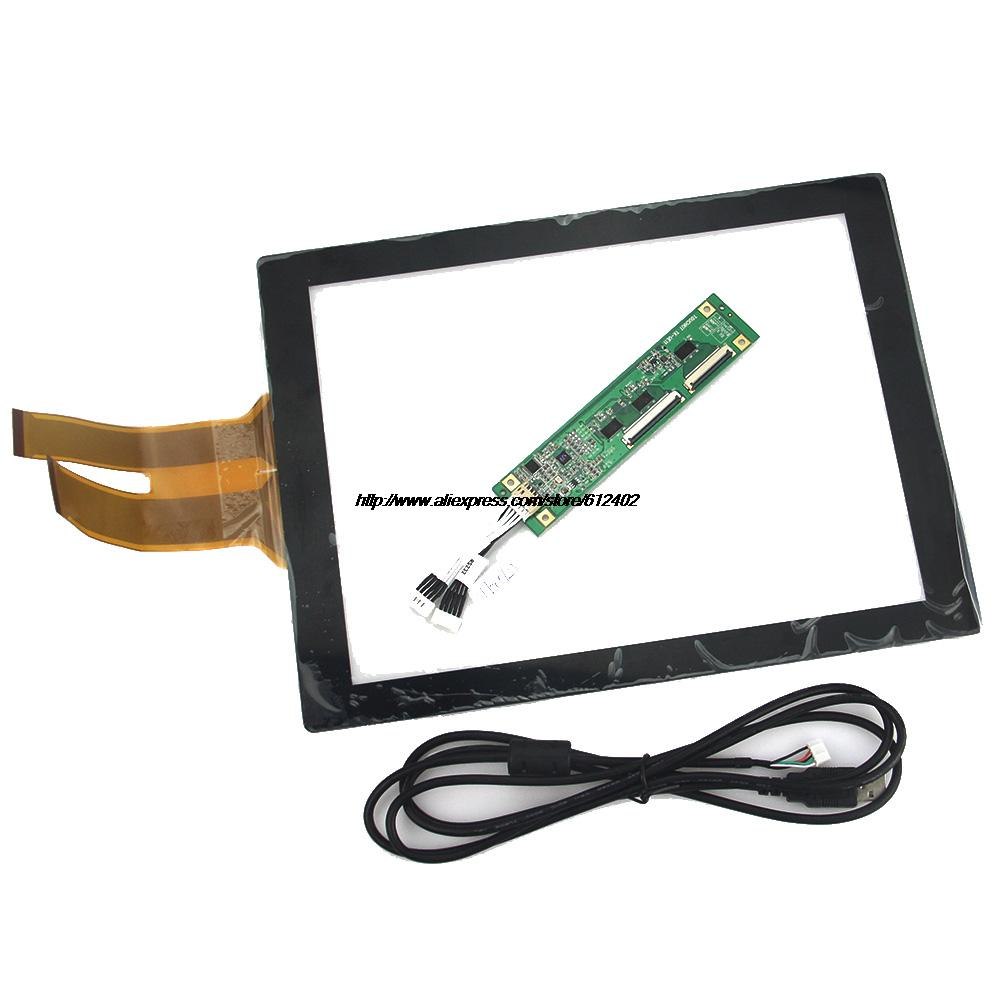 12.1 inch Projected Capacitive Touch Screen Panel 10 Points+USB Controller Win 7/8 USB for industrial Touch Screen Monitor(China (Mainland))
