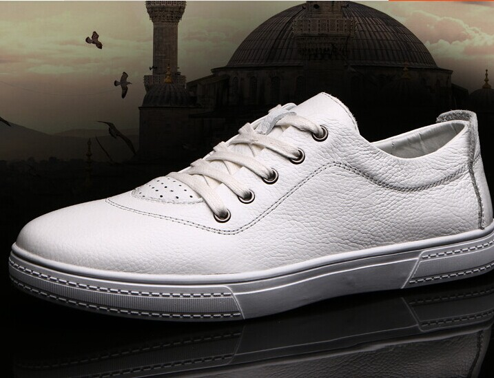 US-6-10 Fashion Genuine leather Litchi grain Mens Casual Lace Up Fashion Sneakers Loafer shoes<br><br>Aliexpress