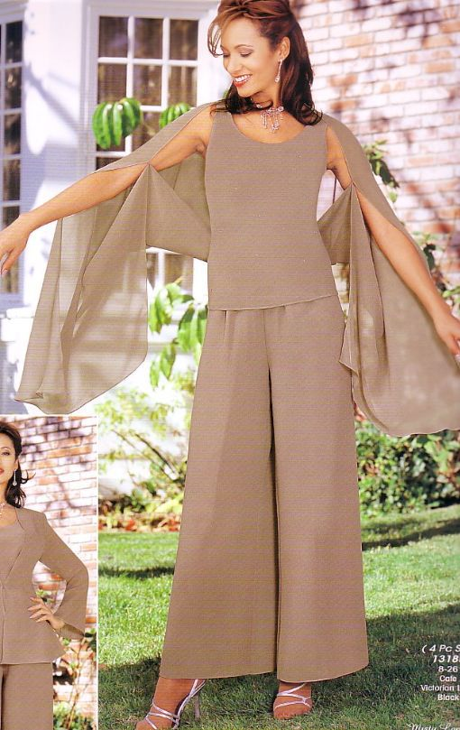 Gorgeous tea length plus size chiffon four piece tall for Wedding dresses for tall plus size