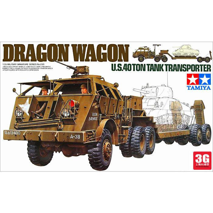 Tamiya tank model 35230 US military assembly 40 tons dragon tank truck MD(China (Mainland))