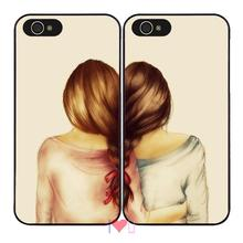 2 X Girls Best Friend BFF Fun Cute back skins cellphone case cover fits iphone 4/4s 5/5s SE 6/6s plus ipod touch4/5/6 - I LOVE U store