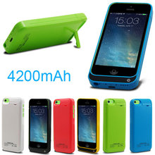 High quality adapter 4200mAh External power bank Charger pack backup battery case for iphone SE 5 5s 5c with USB cable line
