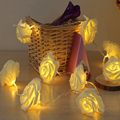 5M 20leds Wedding 6CM Big Rose Flower LED Bouquet String Lights AC110 240V Colorful Rosa Christmas