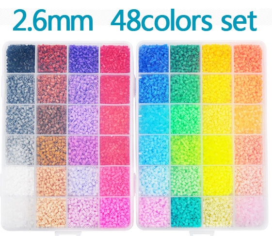 New Perler Beads 2.6mm 48 colors 24,000 pcs with Storage Box DIY gift hama beads craft wholesale learning &amp; toy kids toys<br><br>Aliexpress