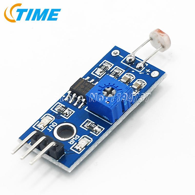 free shipping (10 pcs/lot) 100% new The new photosensitive sensor module detection photoresistor light module(China (Mainland))