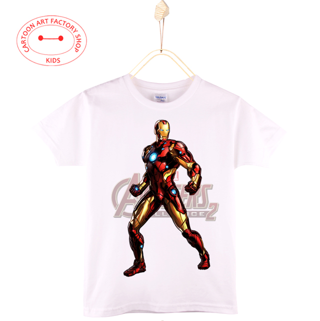 2016 New Children Clothes Fashion Miracle People Kids T-Shirt Boy 100% Cotton Cartoon Iron Hero T Shirts Baby Tops Free Shipping(China (Mainland))