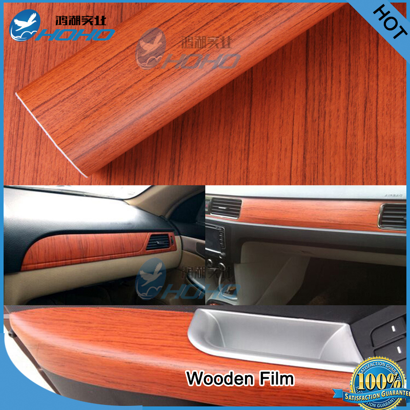 48x20inch Waterproof DIY Car Sticker Car Styling Car Wooden Filml Wrapping vinyl(China (Mainland))