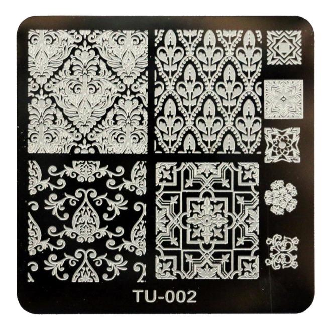 Paradise 2016 Apply base coat DIY Nail Art Image Stamp Stamping Plates Manicure Template Free Shipping May10(China (Mainland))