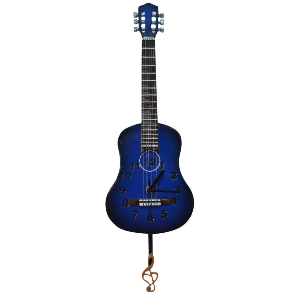 Achetez en gros guitare horloge en ligne des grossistes for Decoration murale guitare