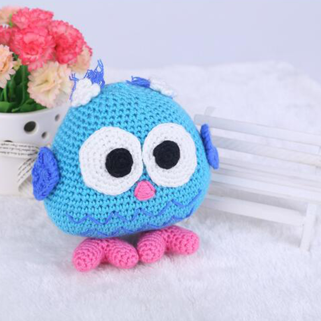 Handmade DIY Owl Baby Doll Toy Crochet Kit Amigurumi Kit for Kids Beginners Crafts