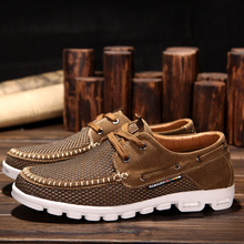 2015 new men s Fashion breathable mesh shoes Casual sneakers Suede leather beach sandals mf 3606