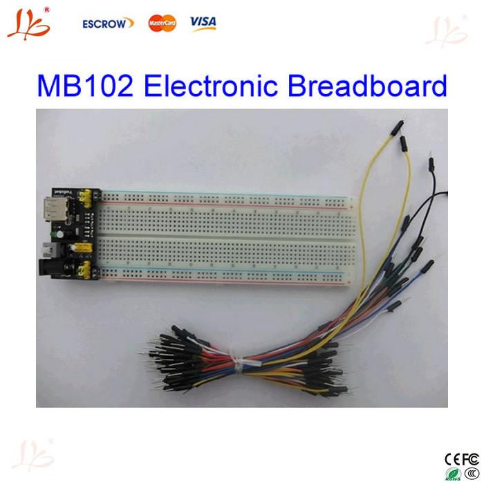 Электронное производственное оборудование China brand ! 3, 3 /5 MB102 + /102 830point + 65pc electronic breadboard интегральная микросхема 830 pcb mb 102 mb102 diy