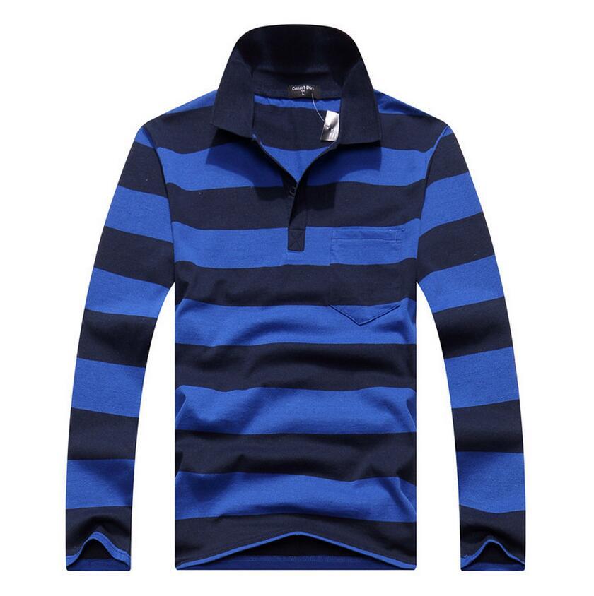 New 2016 Men's Brand Striped Polo Shirt For Men Designer Polos Cotton Long Sleeve shirt Sports Jerseys Golf Tennis Free Shipping(China (Mainland))